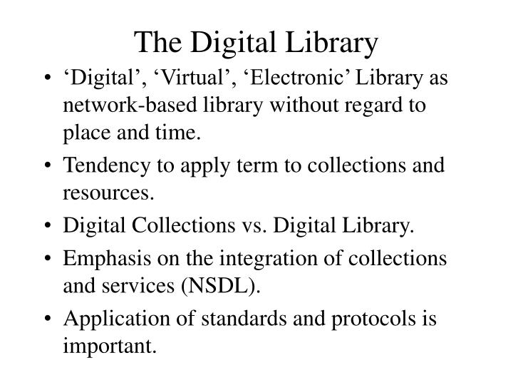 The Digital Library