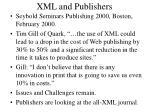 xml and publishers
