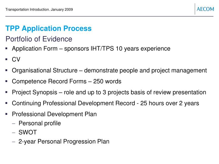 TPP Application Process