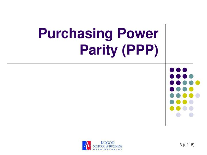 Purchasing power parity ppp