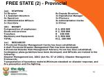 free state 2 provincial