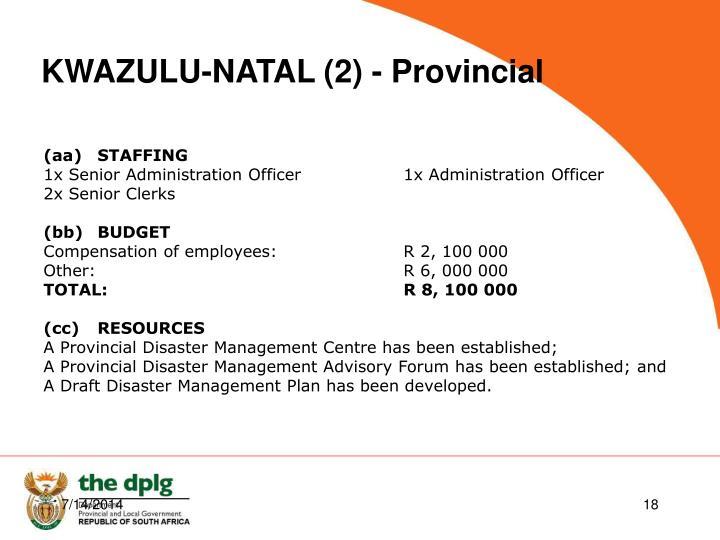 KWAZULU-NATAL (2) - Provincial