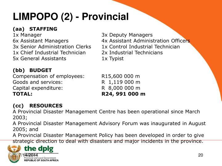 LIMPOPO (2) - Provincial