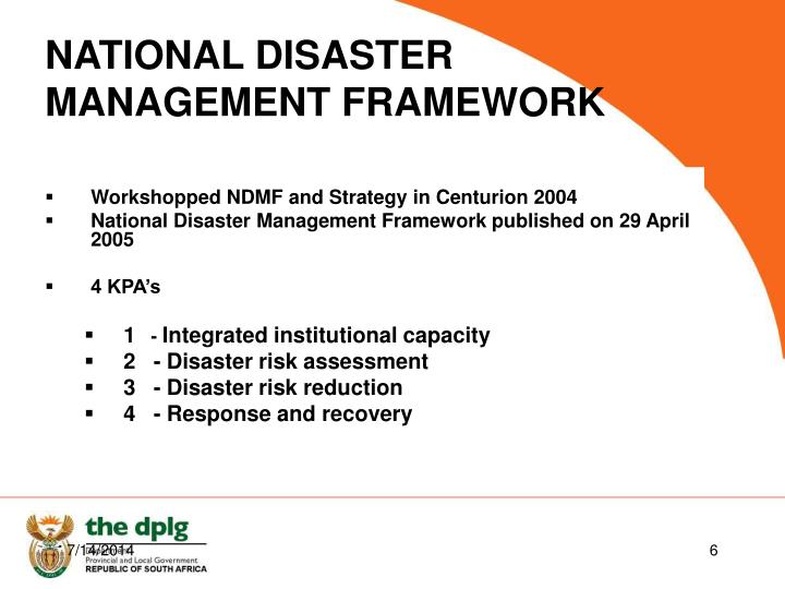 Workshopped NDMF and Strategy in Centurion 2004