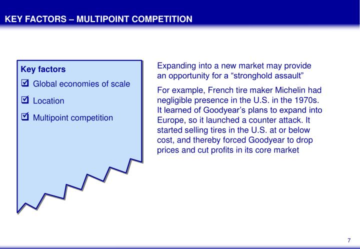 KEY FACTORS – MULTIPOINT COMPETITION