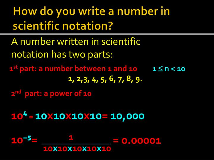 How do you write a number in scientific notation?