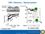 cnt memory nanocrystals