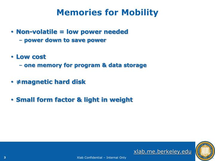 Memories for Mobility