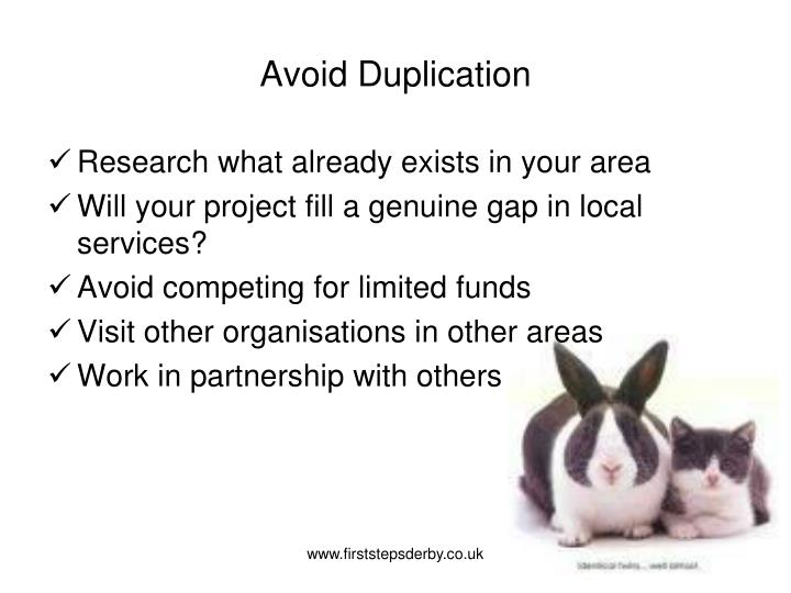 Avoid Duplication