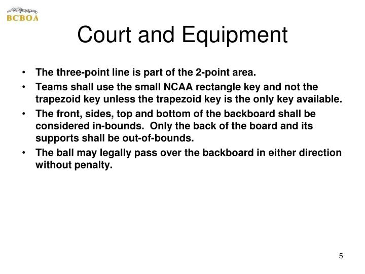 Court and Equipment