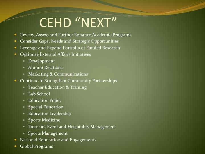 "CEHD ""NEXT"""