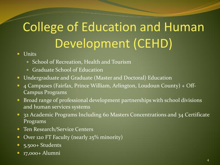 College of Education and Human Development (CEHD)