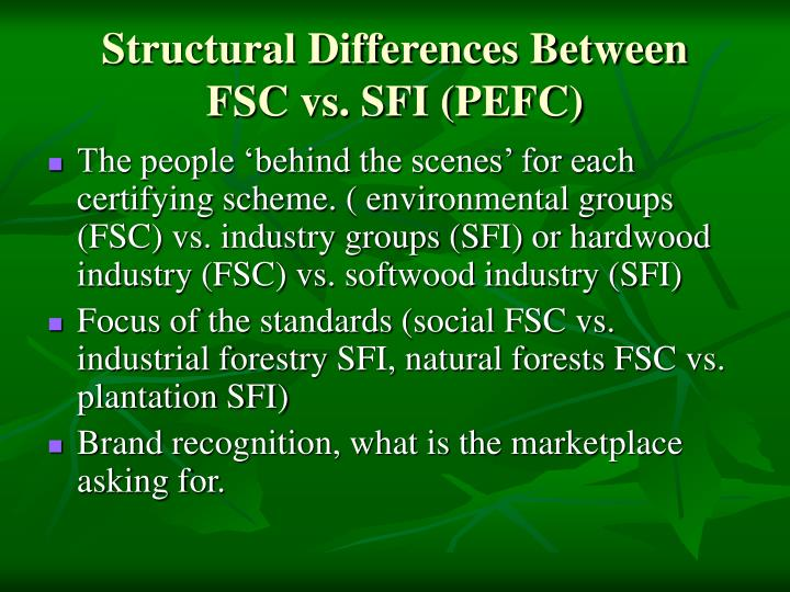 Structural Differences Between