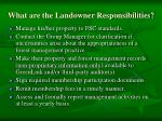 what are the landowner responsibilities