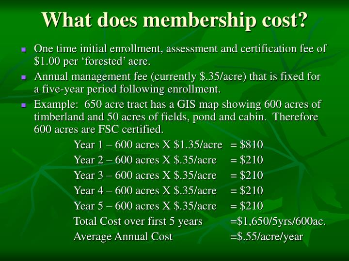 What does membership cost?