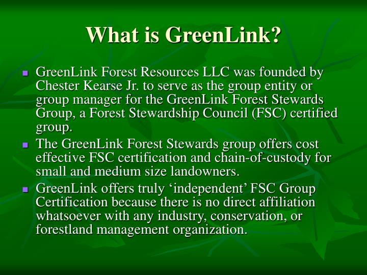 What is GreenLink?