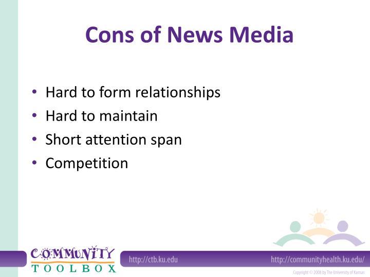 Cons of News Media