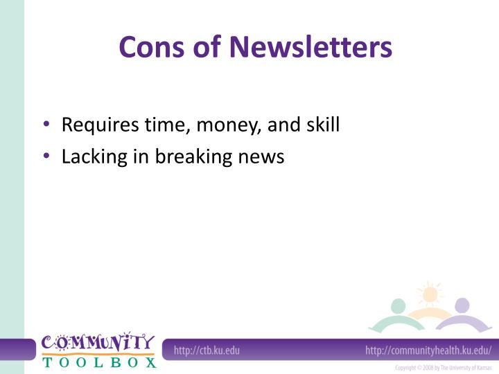 Cons of Newsletters