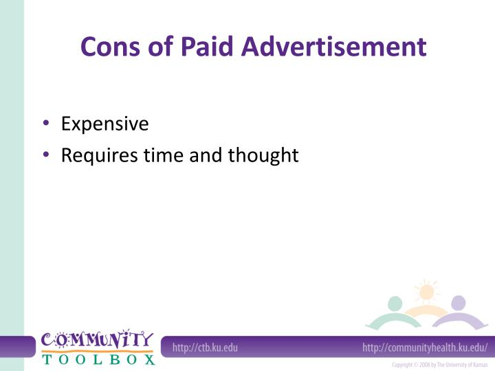 Cons of Paid Advertisement