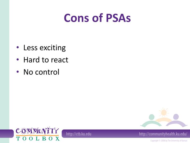 Cons of PSAs