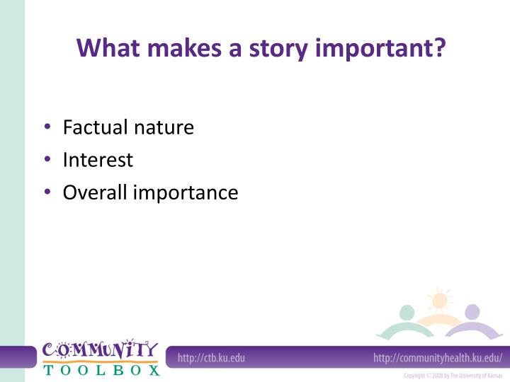 What makes a story important?