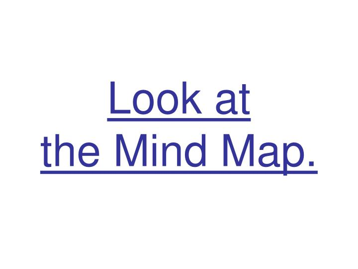 Look at the mind map