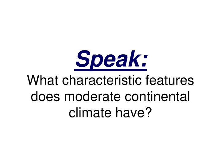 Speak: