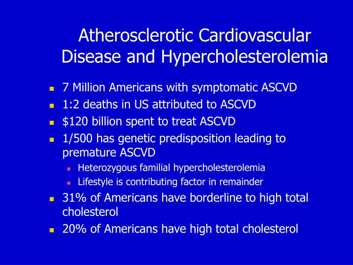 Atherosclerotic cardiovascular disease and hypercholesterolemia