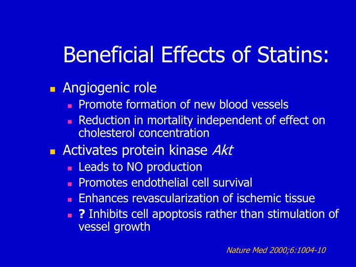 Beneficial Effects of Statins: