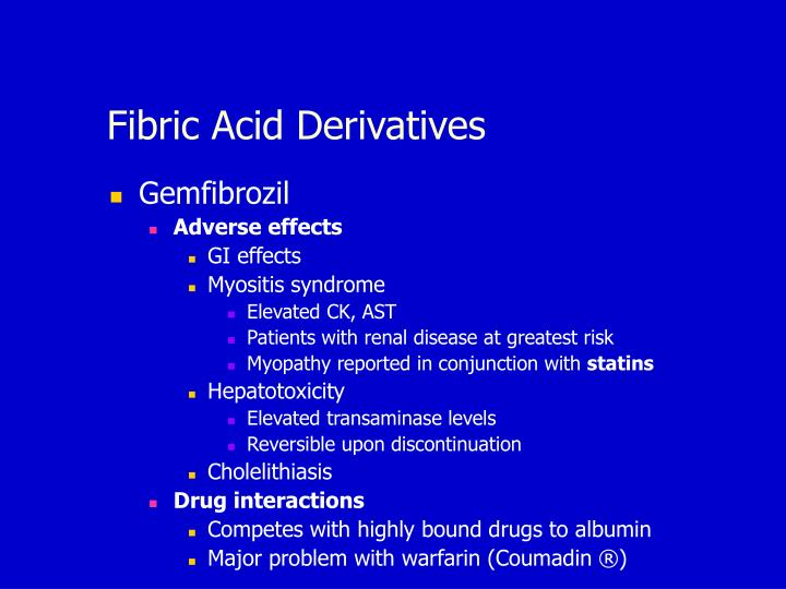 Fibric Acid Derivatives