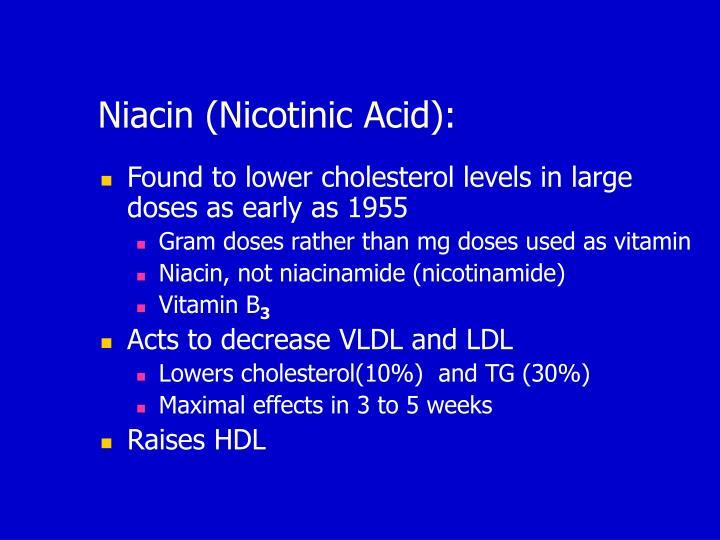 Niacin (Nicotinic Acid):