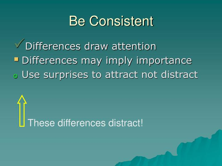These differences distract!