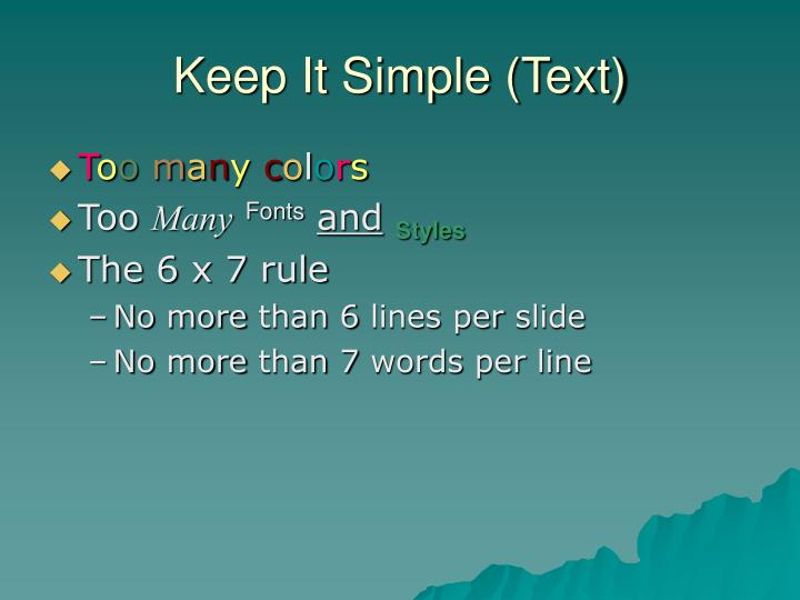 Keep It Simple (Text)