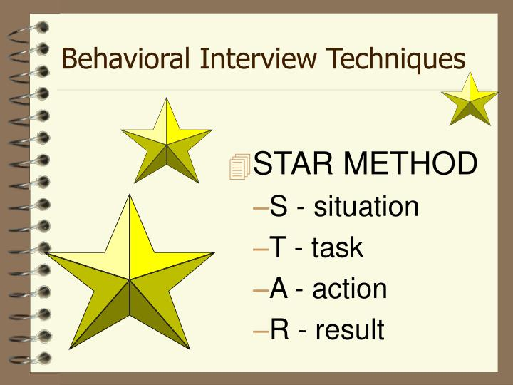Behavioral Interview Techniques