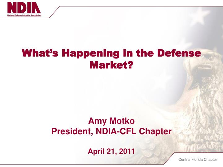 What's Happening in the Defense Market?