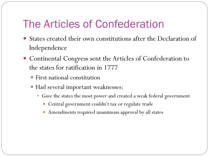 reasons the articles of confederation led to the ratification of the constitution essay In 1788, the constitution replaced the articles of confederation, greatly expanding the powers of the federal government with its current 27 amendments, the us constitution remains the supreme law of the united states of america, allowing it to define, protect, and tax its citizenry.