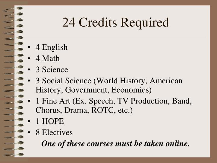 24 Credits Required