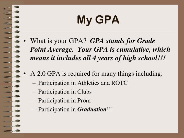 My GPA