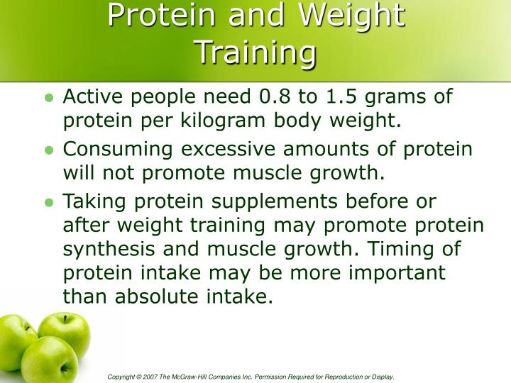 Protein and Weight Training