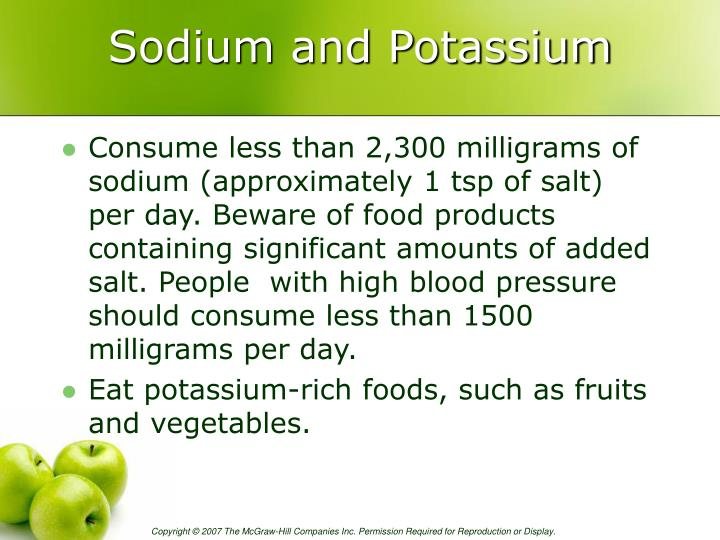 Sodium and Potassium