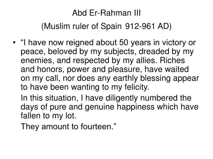 Abd Er-Rahman III