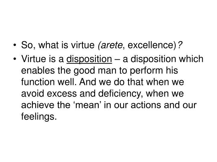 So, what is virtue