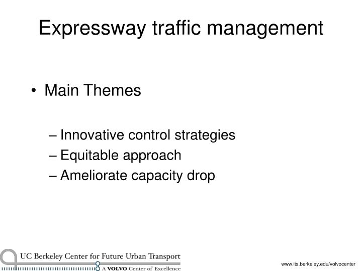 Expressway traffic management