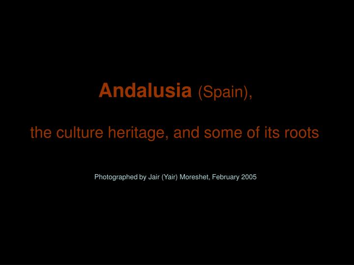 Andalusia spain