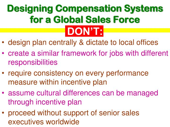 Designing Compensation Systems