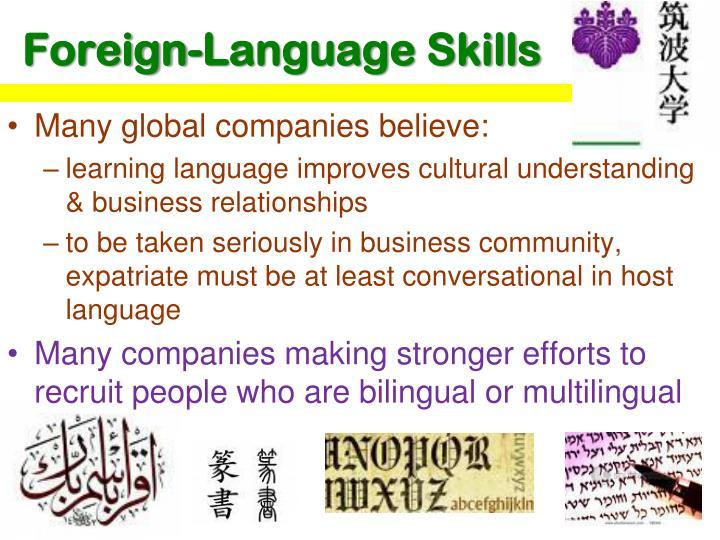 Foreign-Language Skills