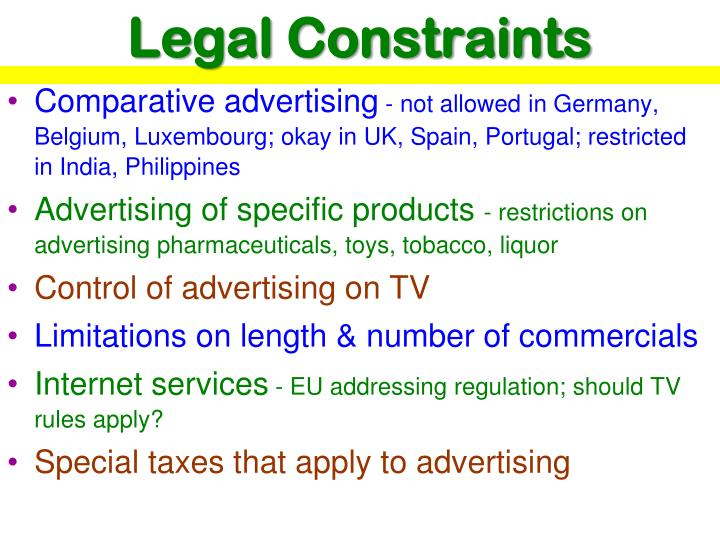 Legal Constraints