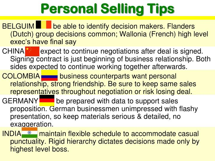 Personal Selling Tips