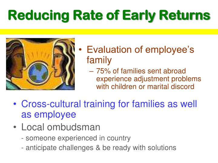 Evaluation of employee's family