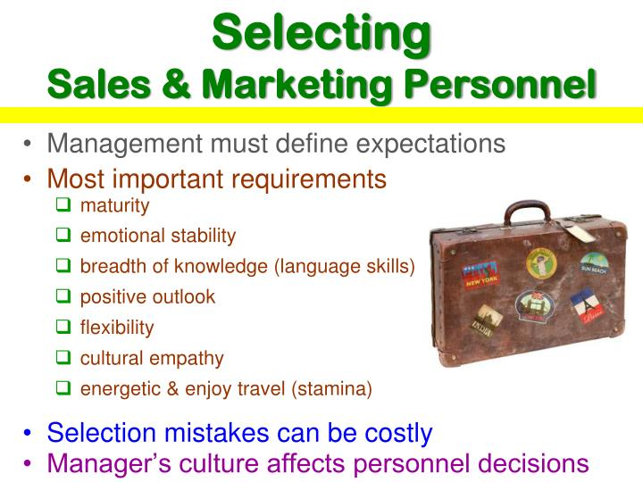 Selecting